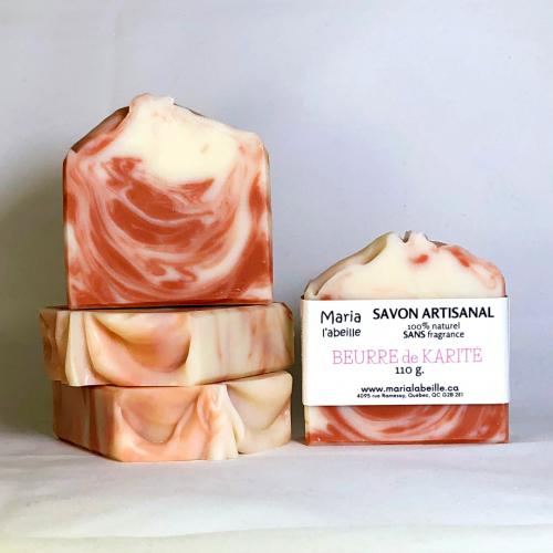 Savon au beurre de KARITÉ - sans fragrance
